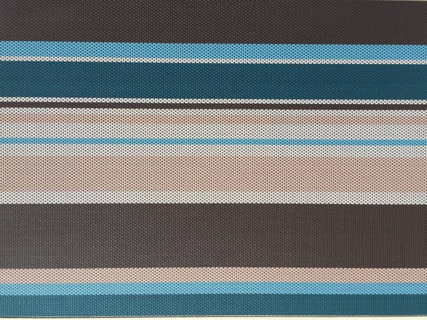 Strip Color Vinyl Woven Mesh Fabric