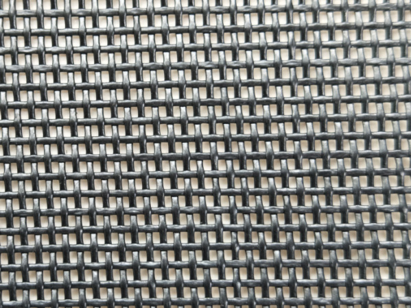Black Mesh Tarp Roll Fabric